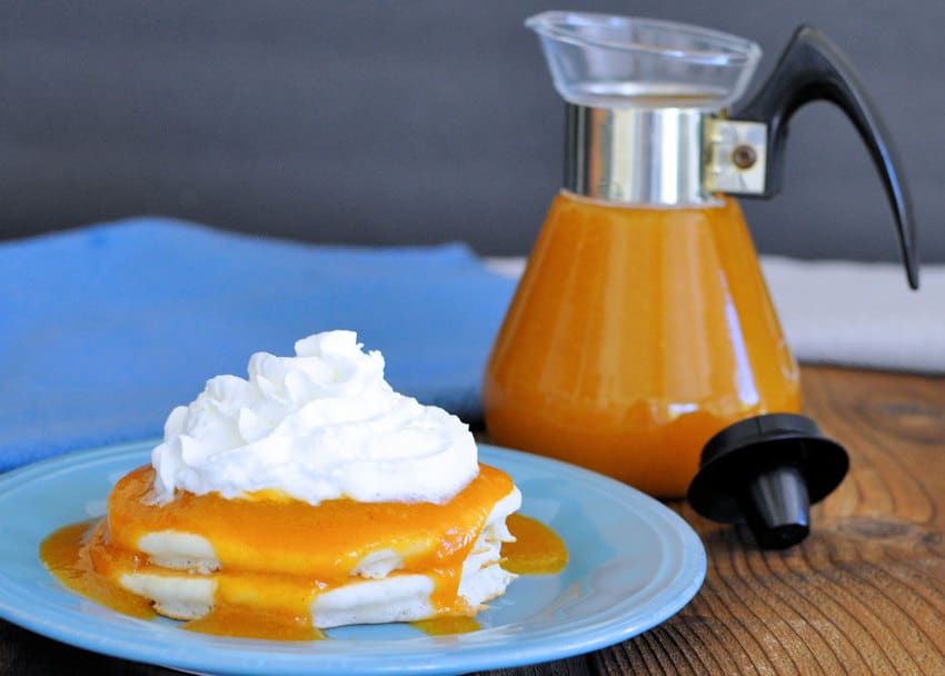 Apricot Syrup on pancakes
