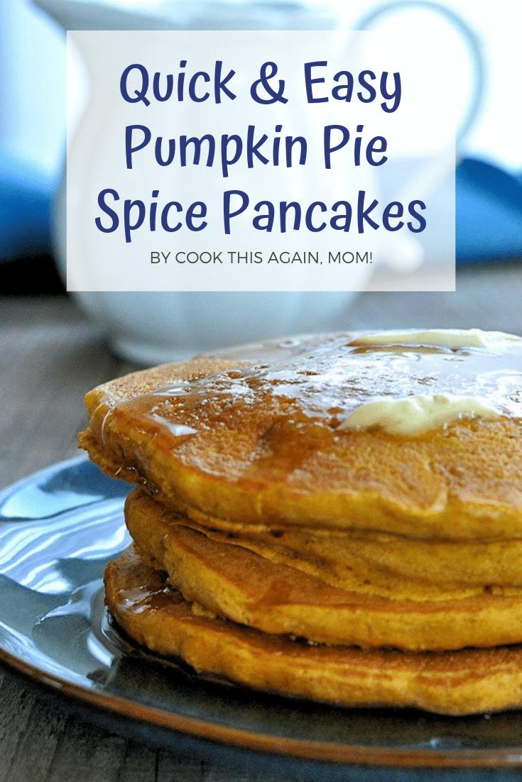 pinterest image for pumpkin pancakes