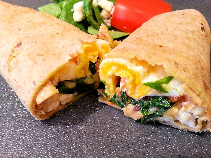 Spinach and Feta Egg Wrap d
