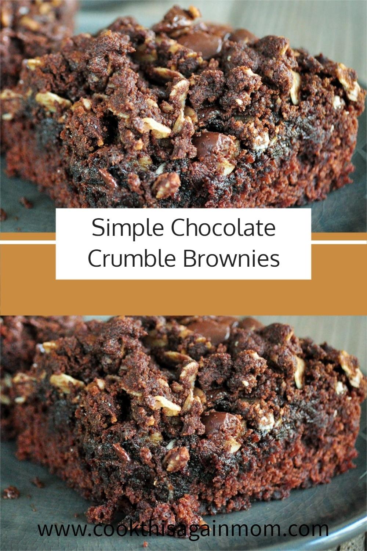 crumble brownies pinterest image