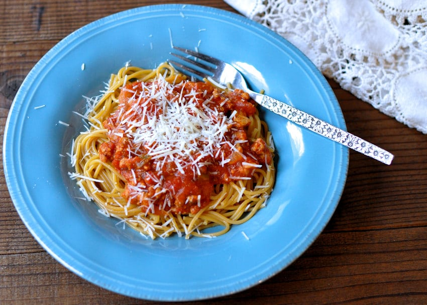 Spiced Up Ground Turkey Spaghetti Sauce
