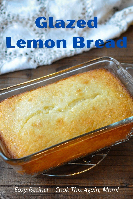 pinterest image for lemon bread