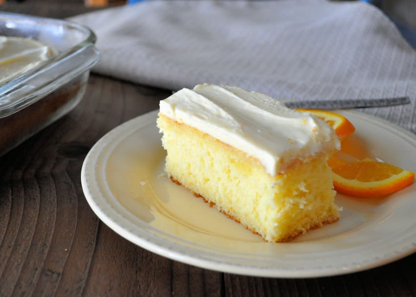 Fresh Orange Cake with Cream Cheese Frosting