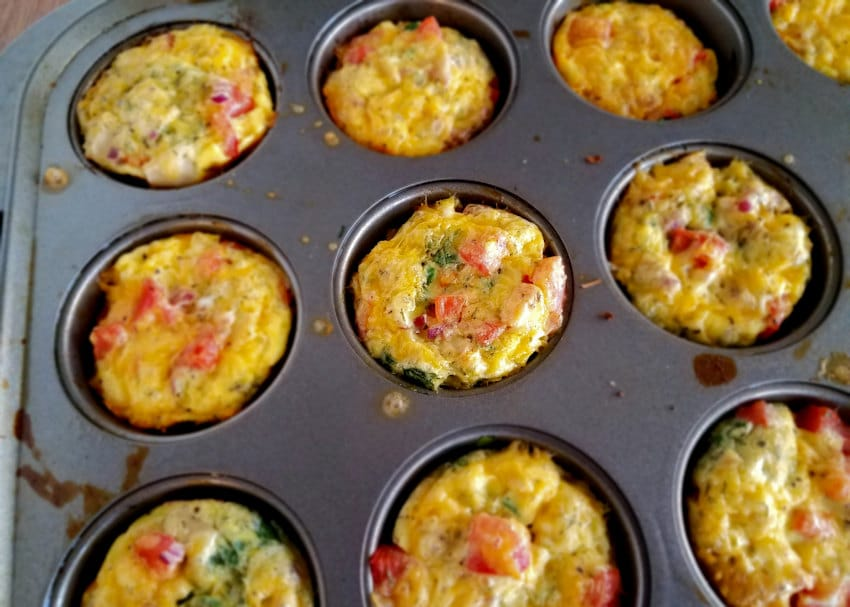 Spinach Egg Cups just baked