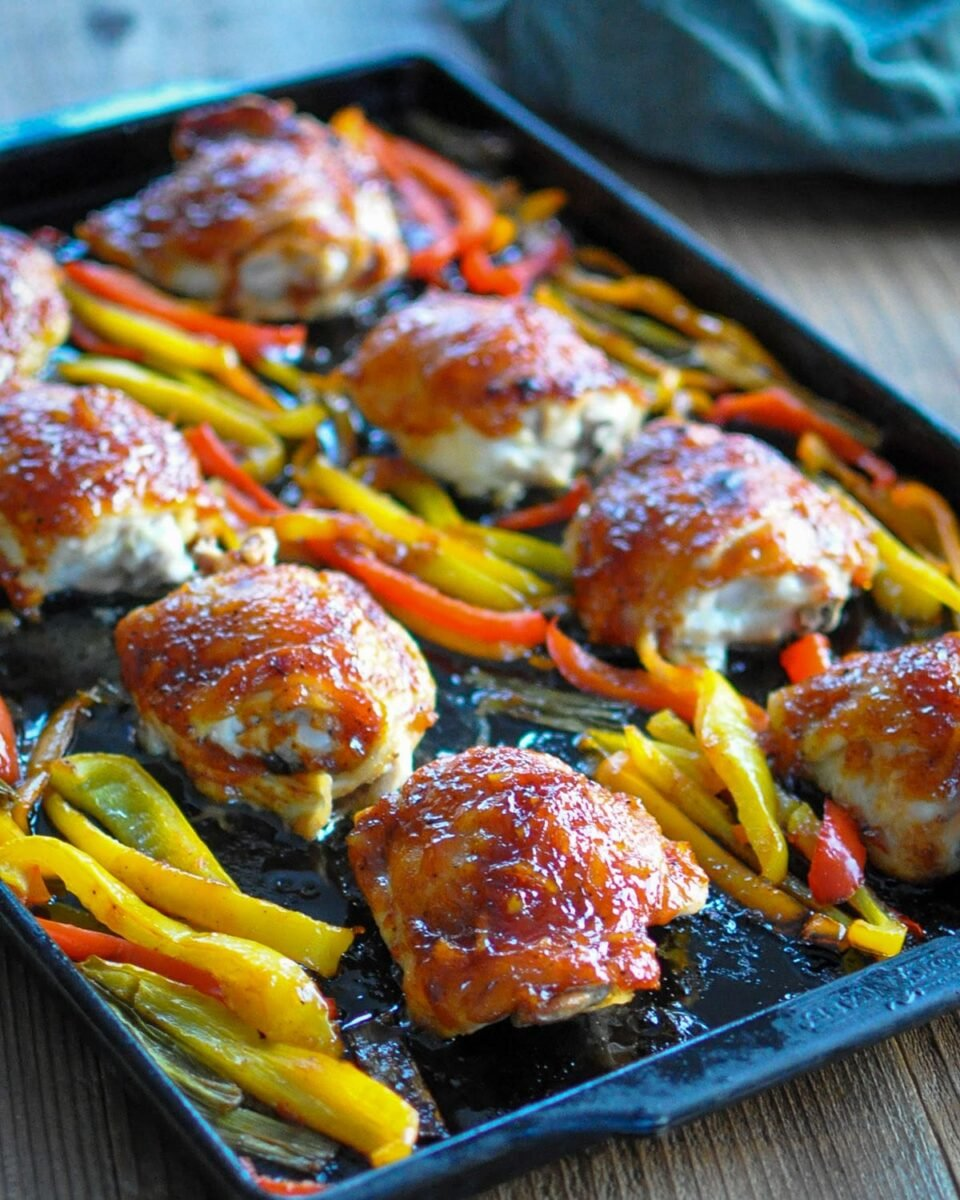 baked chicken on a baking pan