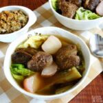 beef soup in a bowl