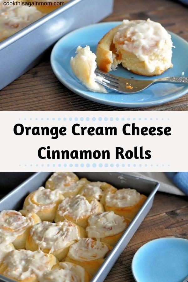 pinterest image for orange cinnamon rolls