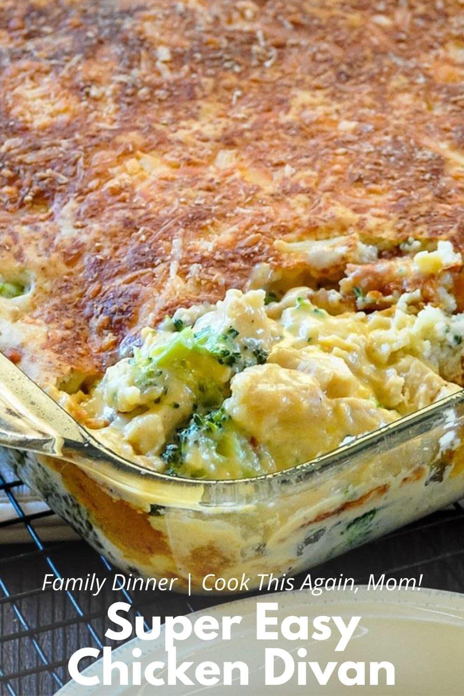 broccoli chicken casserole pinterest gaphic