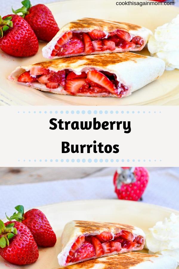 Strawberry Burritos pinterest image