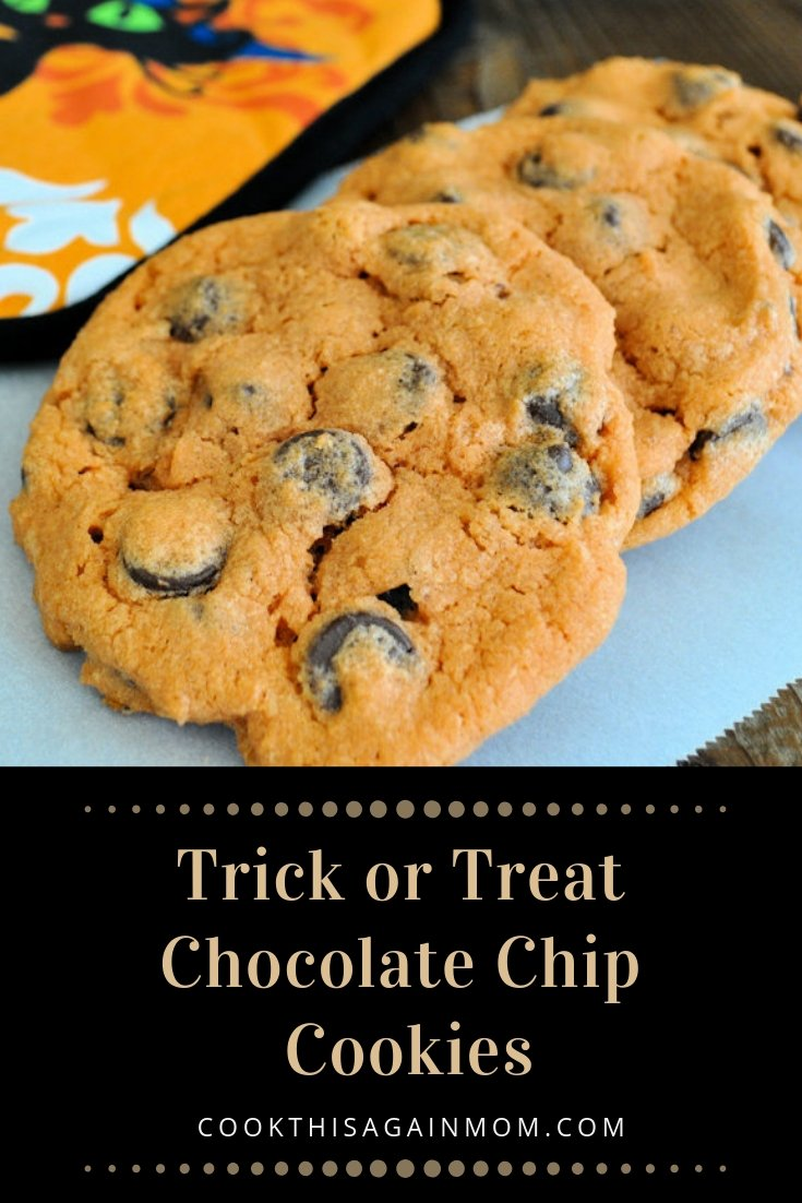 pinterest image for trick or treat cookies