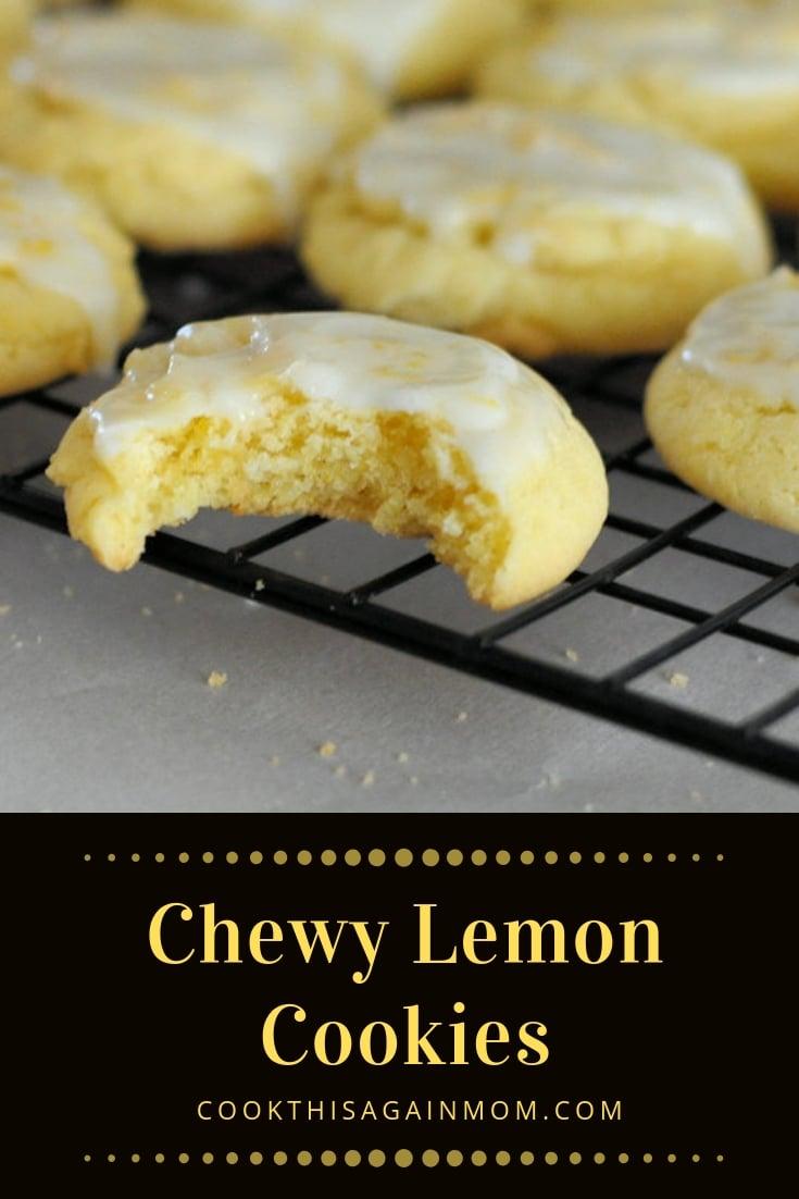 pinterest image for lemon cookies