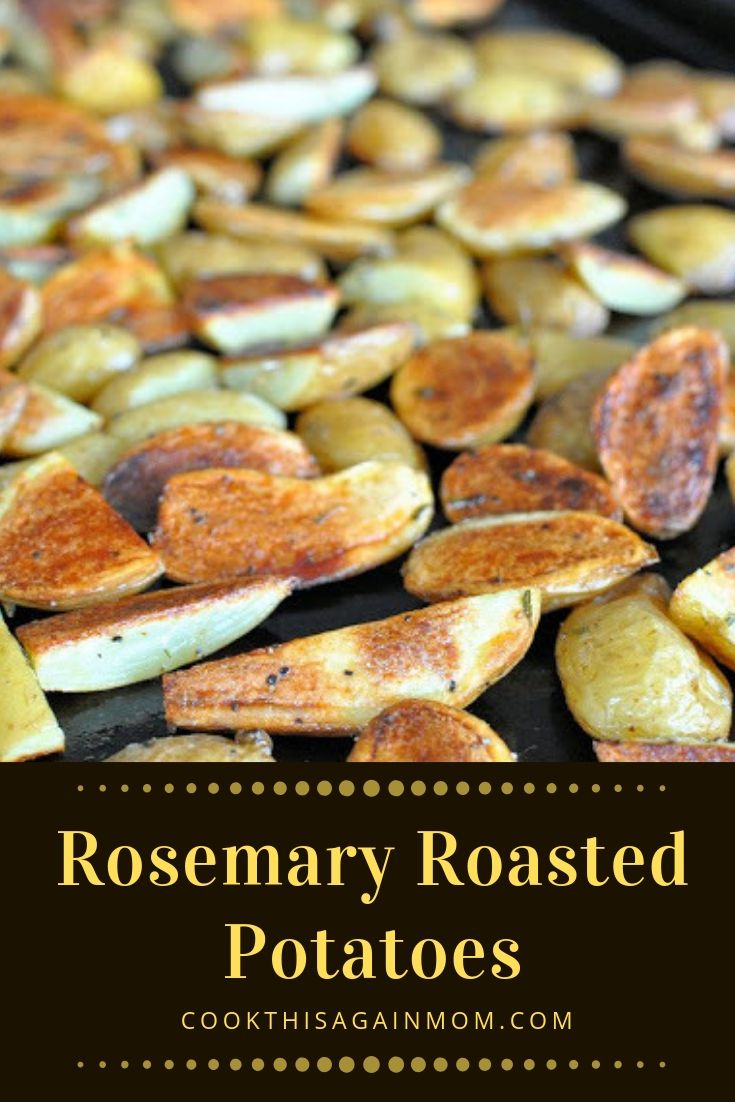 pinterest graphic for rosemary potatoes