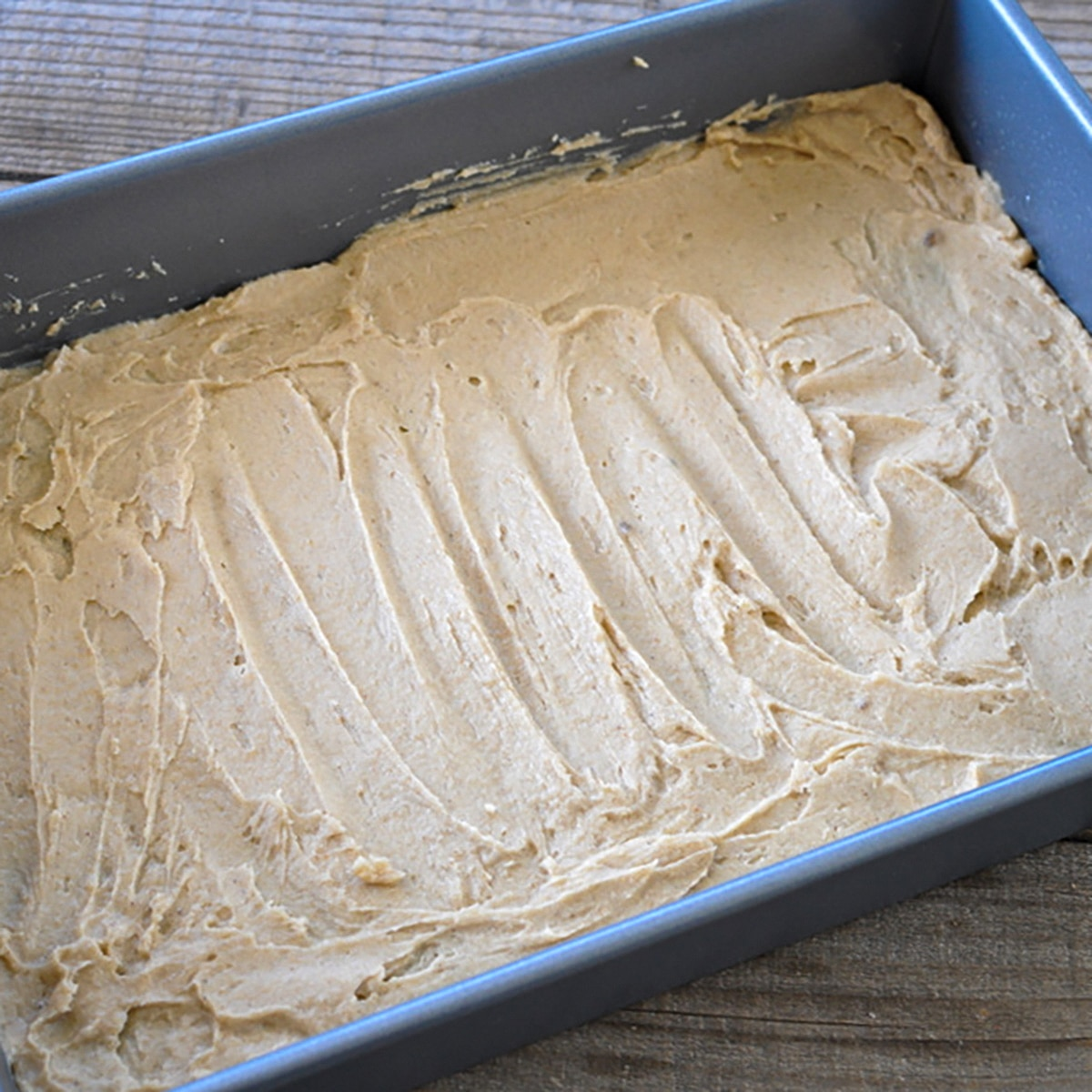 butter, brown sugar, corn syrup mixed together and spread in a baking pan