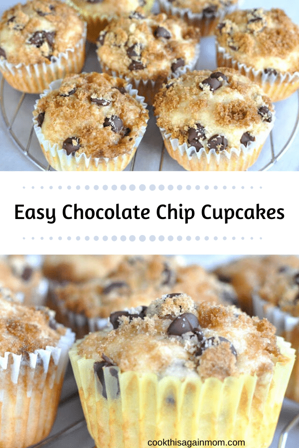 chocolate chip cupcakes pinterst image