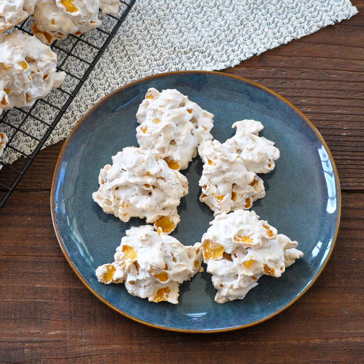 corn flakes cookies on a plate
