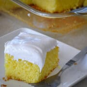 a piece of lemonade cake on a white plate