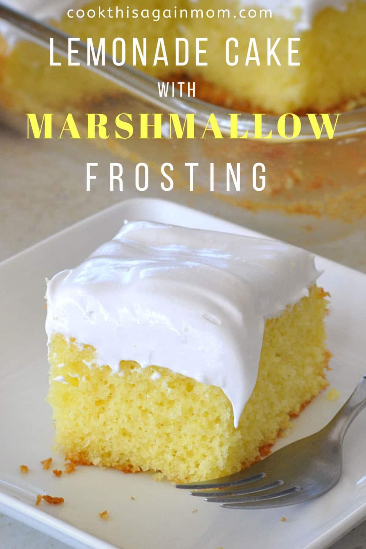pinterest image for lemonade cake