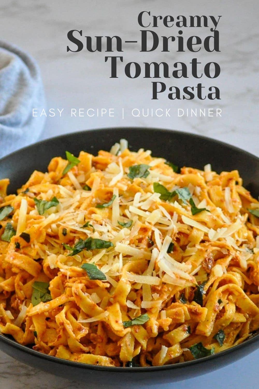 pinterest graphic sun-dried tomato pasta