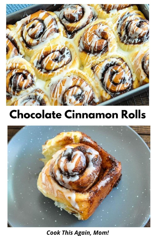 Chocolate Cinnamon Rolls pinterest graphic