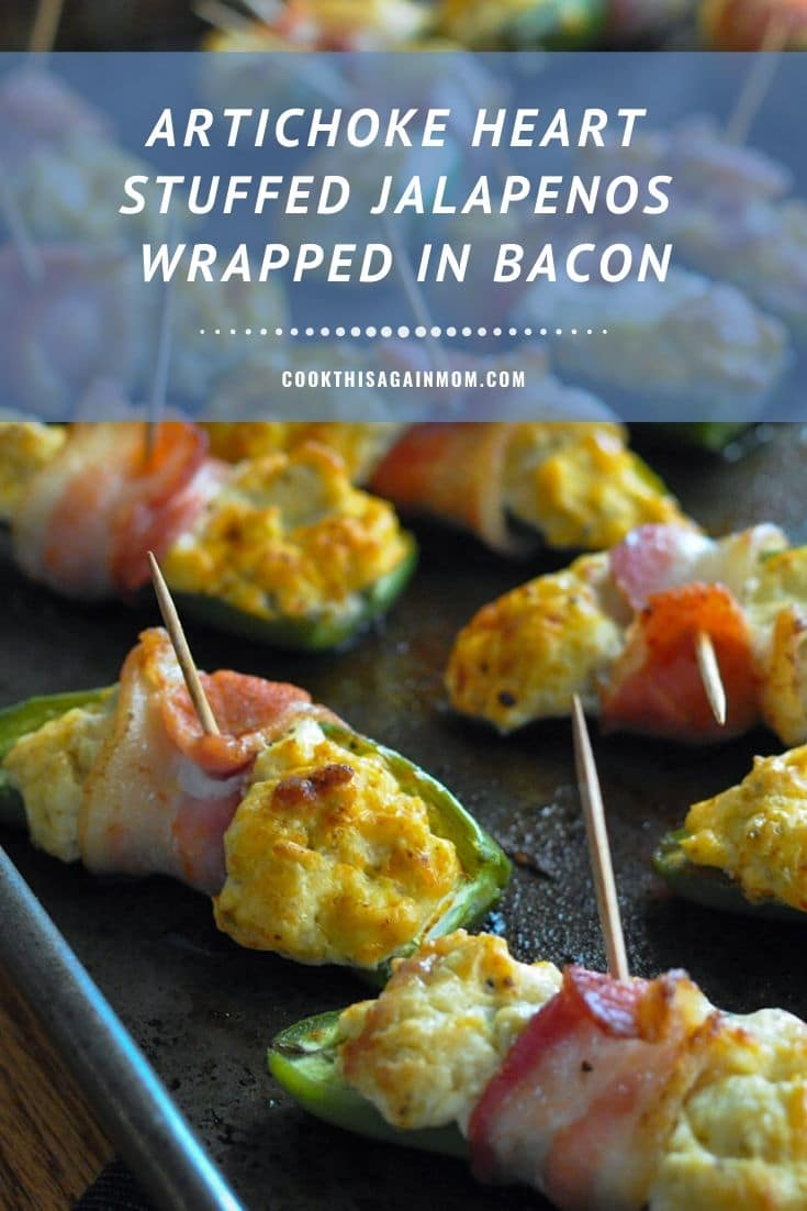 pinterest image featuring stuffed jalapenos