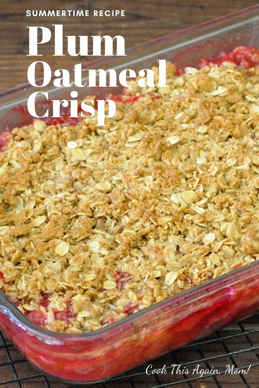 pinterest image for plum crisp