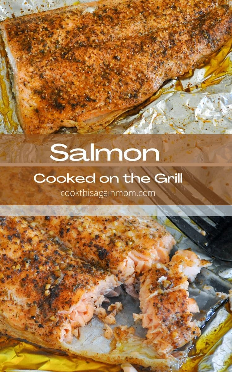 salmon cooked in foil pinterest image