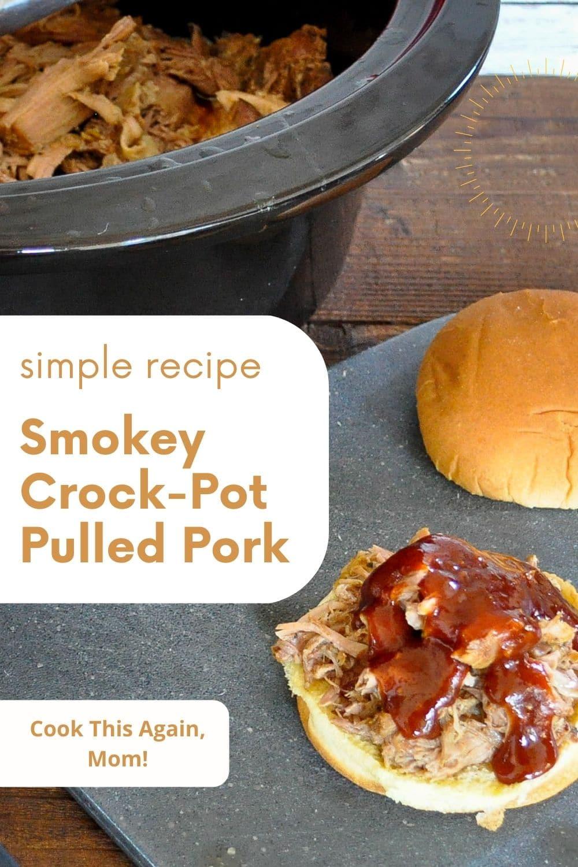 pinterest image of pulled pork sandwich
