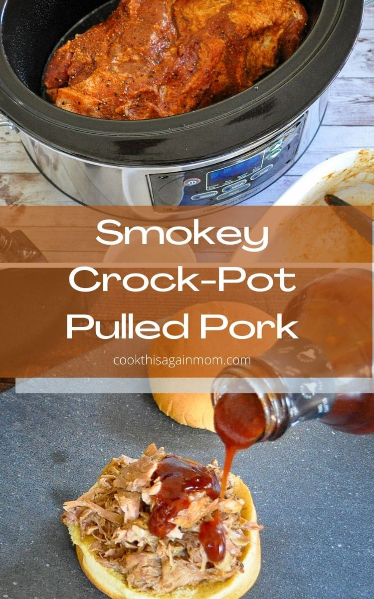 smokey crock pot pulled pork pinterest