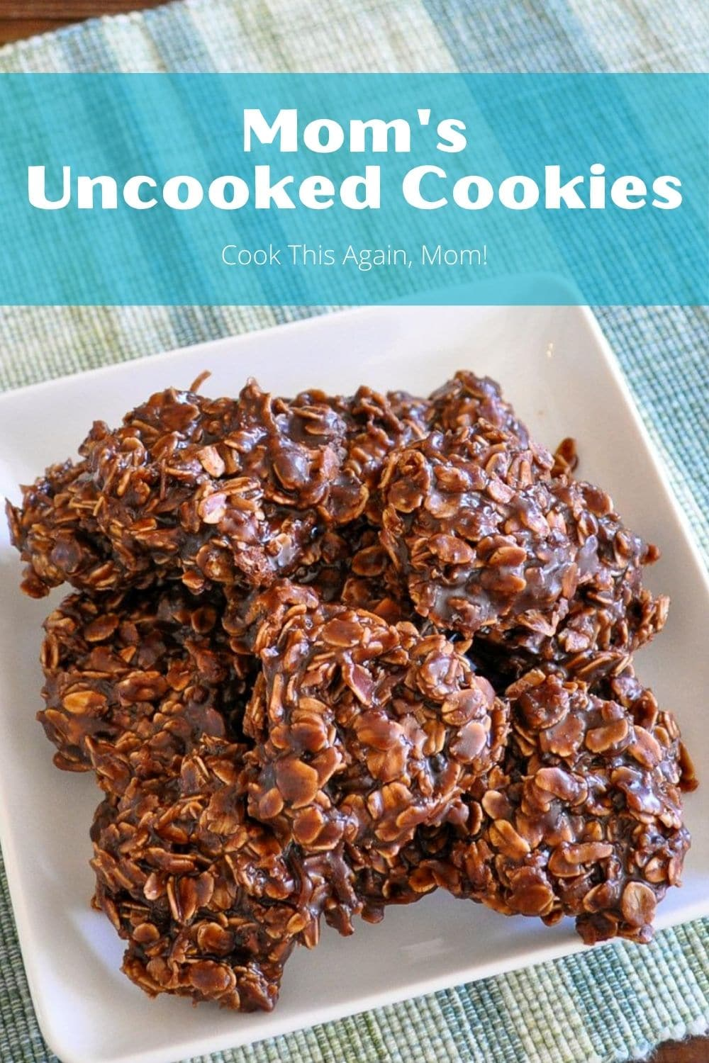 no bake cookies pinterest image