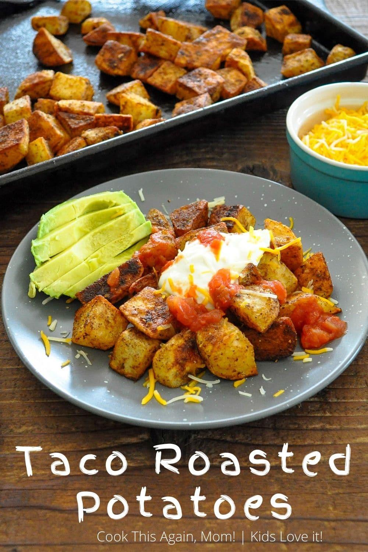 taco roasted potatoes pinterest image