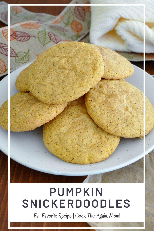 Pumpkin Snickerdoodles Pinterest Image
