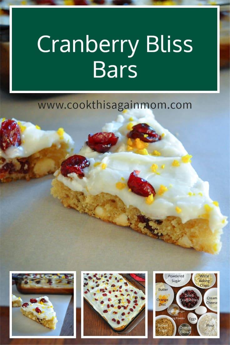 Cranberry Bliss Bars Pinterest