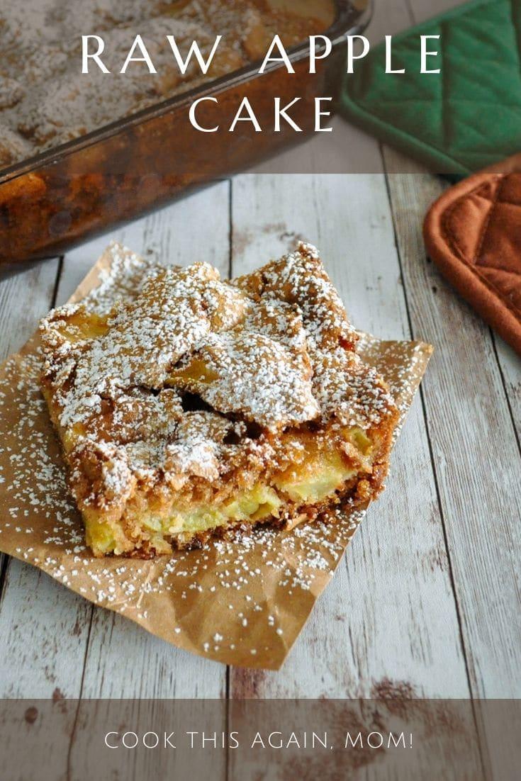 pinterest image for apple cake