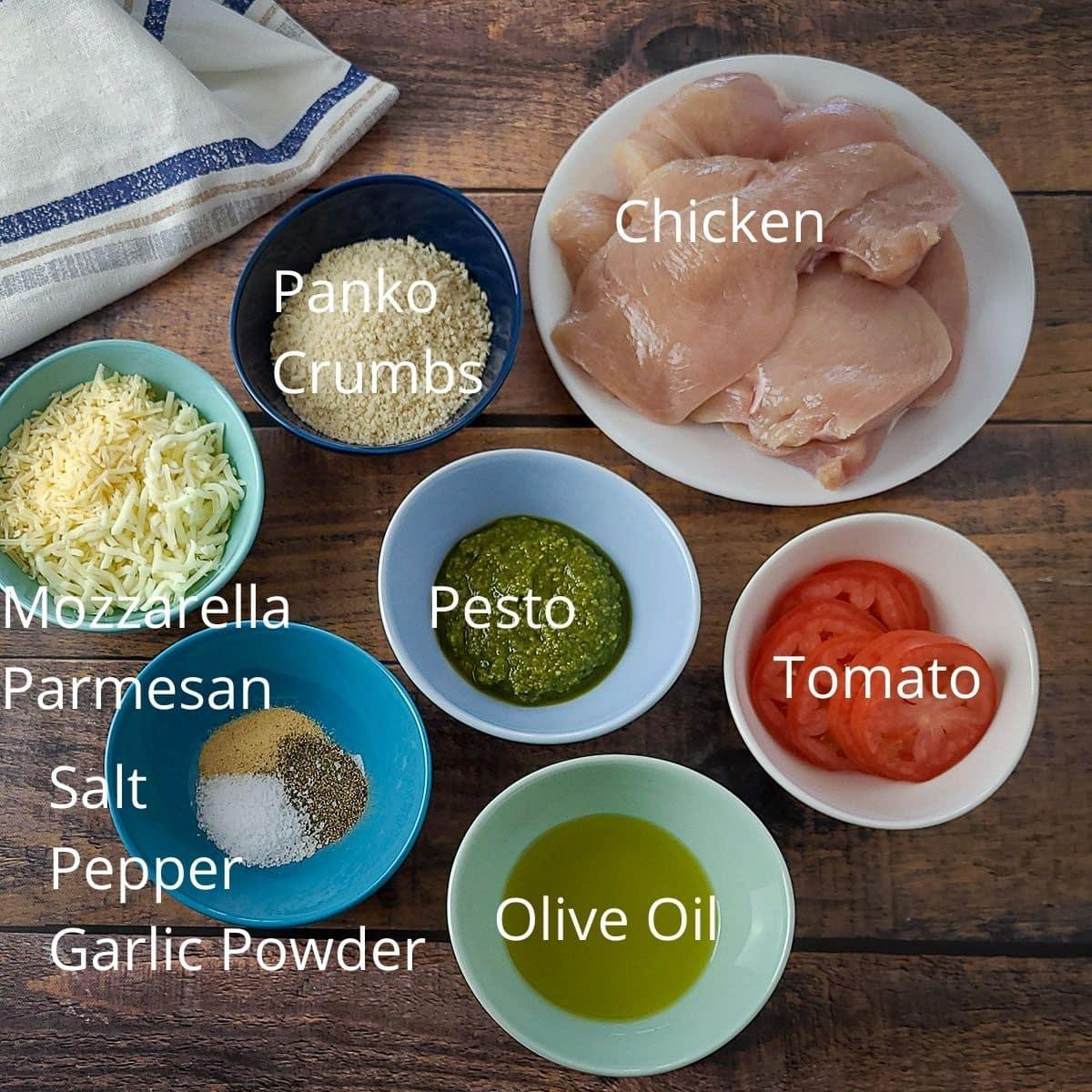 ingredients needed for pesto chicken