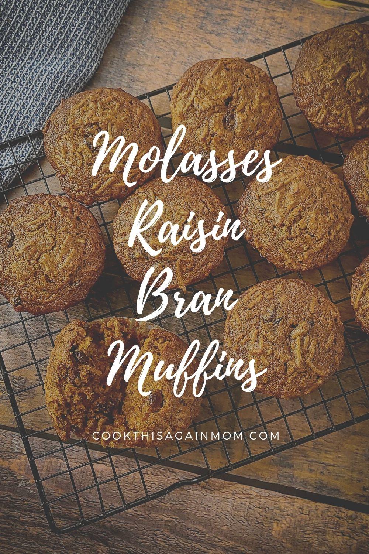 pinterest graphic for bran muffins