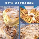 orange cinnamon rolls with cardamom pinterest image