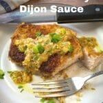 panko pork chop with dijon sauce pinterest graphic
