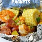 pinterest graphic for shrimp boil packets