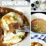 pinterest graphic for beef and dumplings