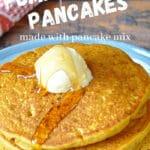 pinterest graphic for pumpkin pancakes